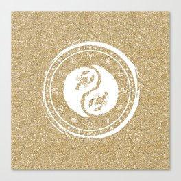 Cancer Yin Yang Fourth Zodiac Sign Canvas Print