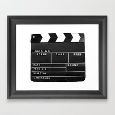 Film Movie Video production Clapper board Framed Art Print