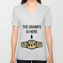 The Gramps Is Here  Unisex V-Neck