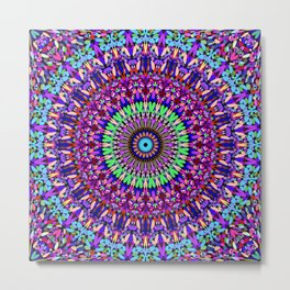 Pretty Gravel Mandala Metal Print