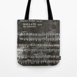 Brahms Sheet Music - Ballade Tote Bag