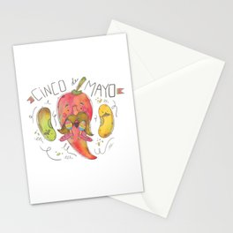 Red Chilli Celebrating Cinco De Mayo Stationery Cards