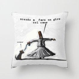 you spin me round Throw Pillow