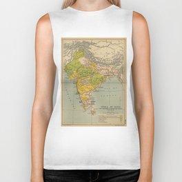 Vintage India Maratha and Mysore War Map (1804) Biker Tank