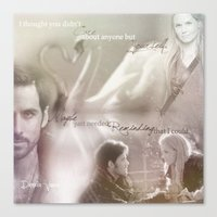 captain swan Canvas Prints featuring Captain Swan by Daniela Vasco