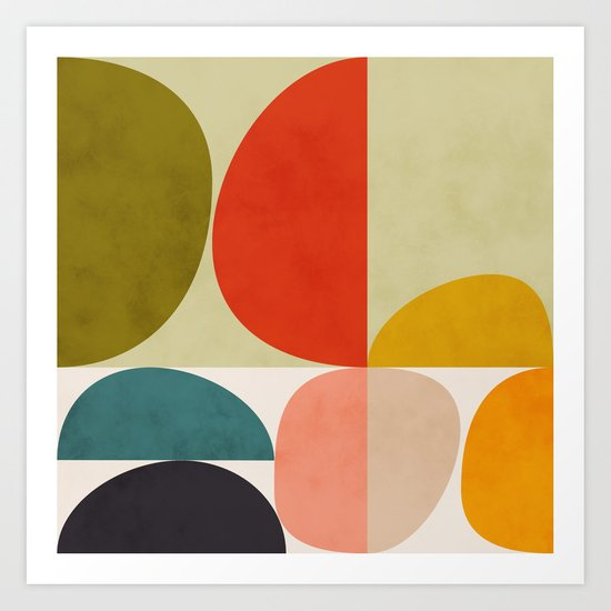 shapes of mid century geometry art by anarutbre