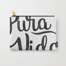 Pura Vida Costa Rica Waves in Black Carry-All Pouch
