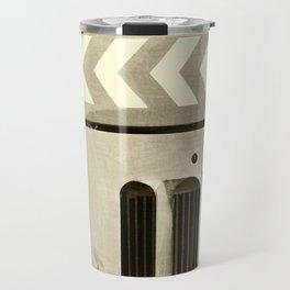 Road Roller Chevron 05 - Industrial Abstract Travel Mug