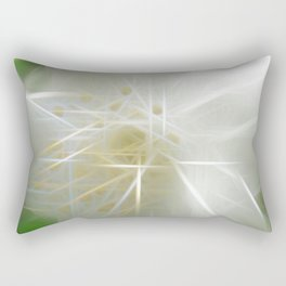 White Shiny Jasmine Rectangular Pillow