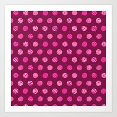 Patterned Dots Art Print