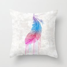 Colors of a Feather Throw Pillow