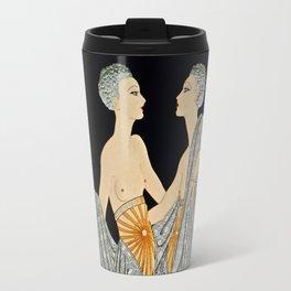 "Art Deco Illustration ""Twins"" by Erté Travel Mug"