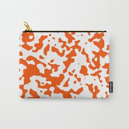 Spots - White and Dark Orange Carry-All Pouch
