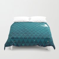 night sky Duvet Covers featuring Night Sky by littleclyde