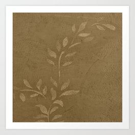 Sepia Vine Vintage Floral - Rustic - Hygge - Modern - Vintage - Farmhouse - Corbin Henry Art Print