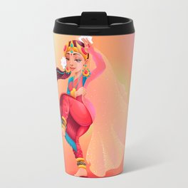 Indian dancer representing the veil of Maya Travel Mug