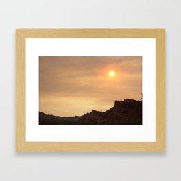 Desert Sunset Photo Framed Art Print