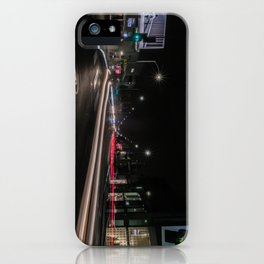 Streaming Lights on The Avenue iPhone Case
