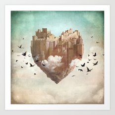 My Heart Is My Castle Art Print