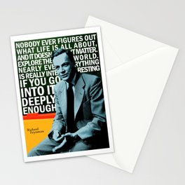 Richard Feynman Quote 1 Stationery Cards