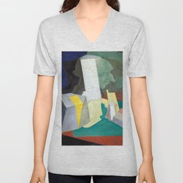 Diego Rivera Composition with Bust Unisex V-Neck