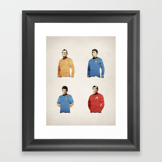 Polygon Heroes - Trekkies Framed Art Print