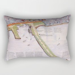 Salem Massachusetts National Historic Sites and Wharves Rectangular Pillow