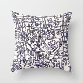 Begin/End Series in Purple Throw Pillow