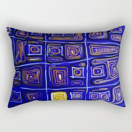 X Grid Rectangular Pillow