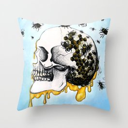Bees & Honey Throw Pillow