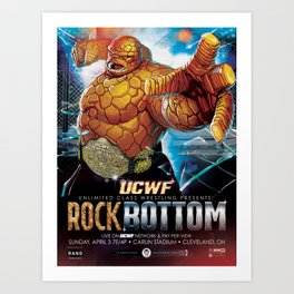 UCWF: Unlimited Class Wrestling Federation PPV Poster Art Print