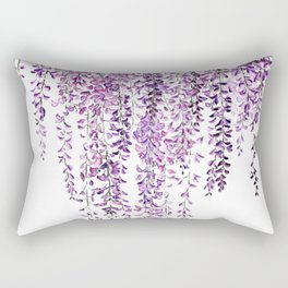 purple wisteria in bloom Rectangular Pillow