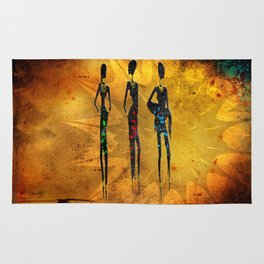 Africa retro vintage style design illustration Rug