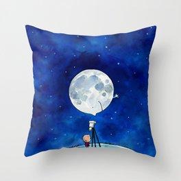 Little astronomer Throw Pillow