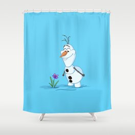 Olaf And The Flower Shower Curtain