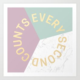 ESPECIAL FOR CLOCKS - every second counts II Art Print