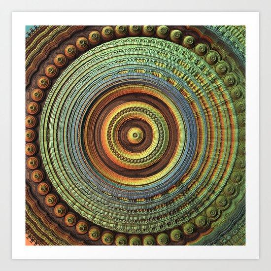 Casual Mandala Art Print