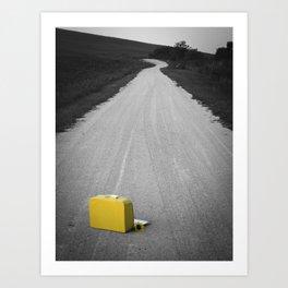 Yellow Lonely Road Art Print