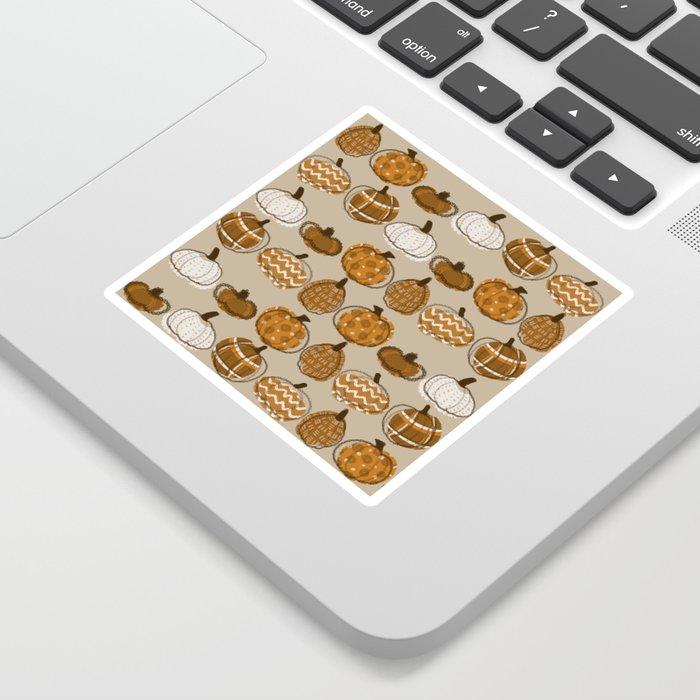 Pumpkin Party in Almond Sticker