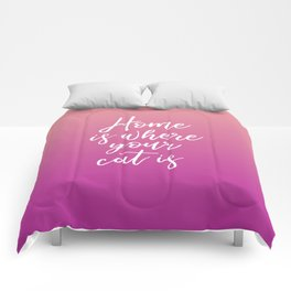 Home is Where Your Cat Is - Sunset Comforters