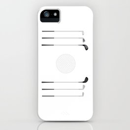 Golf Clubs and Ball iPhone Case