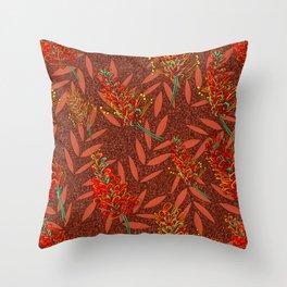 Australian Native Floral Print Throw Pillow