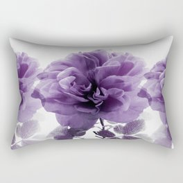 Three Roses In A Row Rectangular Pillow