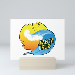 Surf Santa Cruz California Mini Art Print