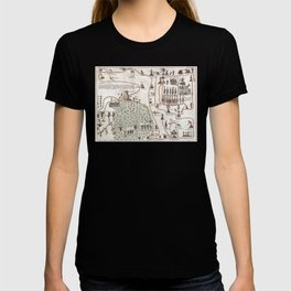 Aztec Collection: Migration from Aztlan to Chapultapec T-shirt