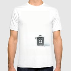 Retro Camera - Vintage White Mens Fitted Tee MEDIUM