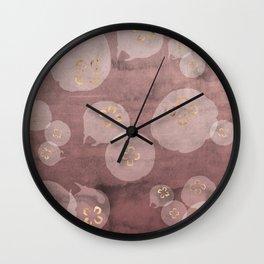 Blush Jellies Wall Clock