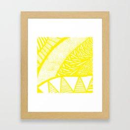 Free Hand Zesty Lemon Doodle Design Framed Art Print