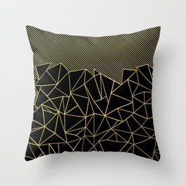 Ab Lines 45 Gold Throw Pillow
