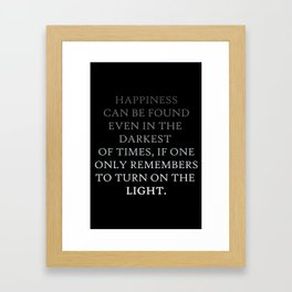 Happiness can be found Quote Framed Art Print